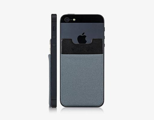 Adhesive Mobile Pocket Black
