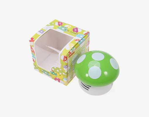 Mini Mushroom Vacuum Cleaner in box