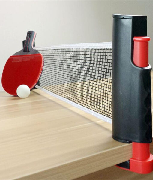 Table Tennis Net Portable Retractable on opened on table