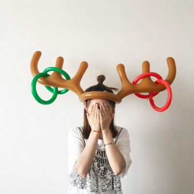 1 Set PVC Inflatable Antlers Shape Toy Christmas Family New Year Party Fun Throw Ring Interactive 510x510 1